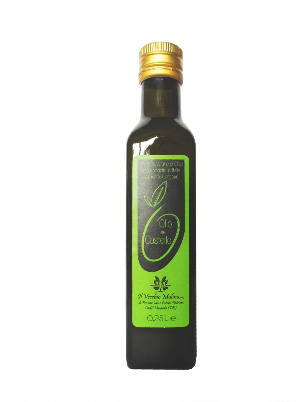 Olio Extravergine di Oliva Bottiglia 0.25L, bottiglia olio, olio evo