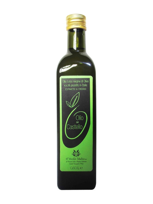 Olio Extravergine di Oliva Bottiglia 0.50L, bottiglia di olio