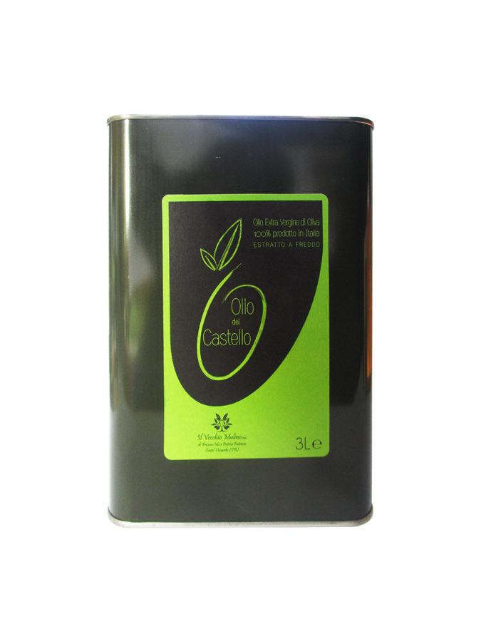 Olio Extravergine di Oliva Latta 3L, lattina olio di oliva