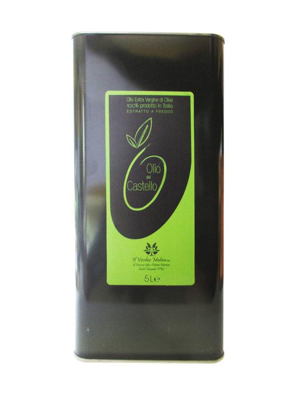 Olio Extravergine di Oliva Latta 5L, lattina olio di oliva, olio evo