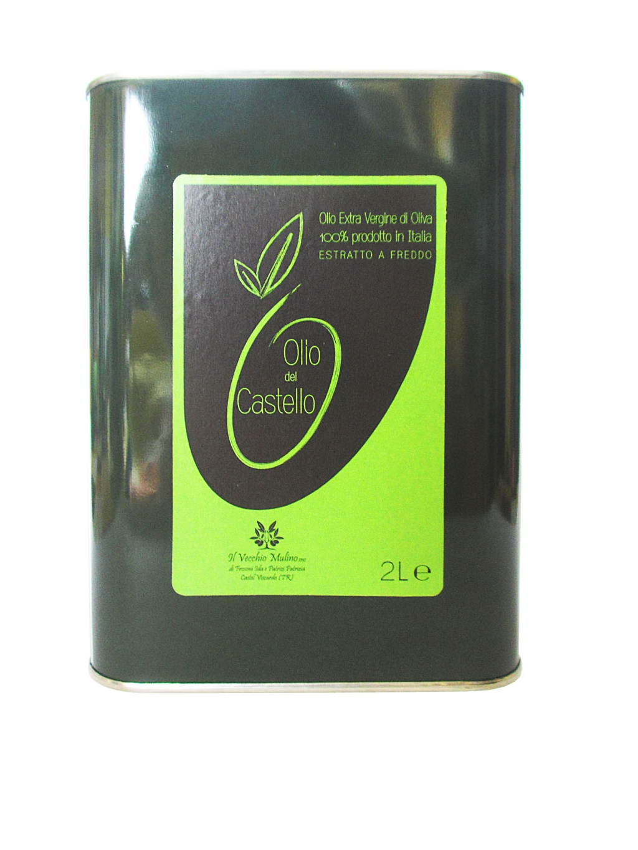 Olio Extravergine di Oliva Latta 2L, lattina olio, olio evo