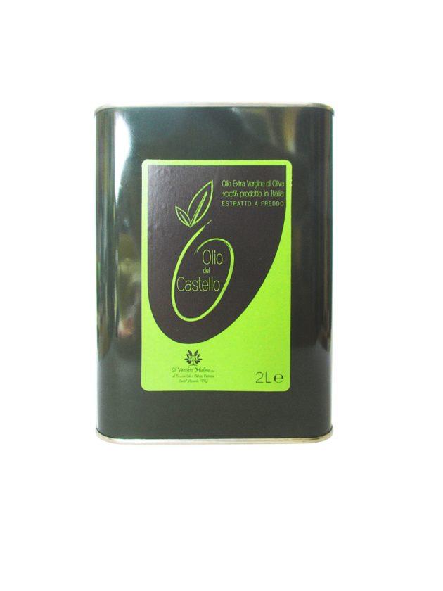 Olio Extravergine di Oliva Latta 2L, lattina olio di oliva